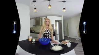 VR Porn Perfect Busty Blonde MILF gets FUCKED hard POV on BaDoinkVR.com Son moms