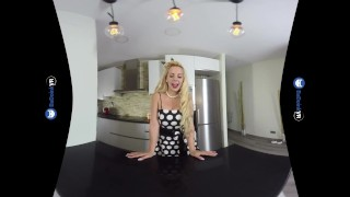 VR Porn Perfect Busty Blonde MILF gets FUCKED hard POV on BaDoinkVR.com Oragsm petite