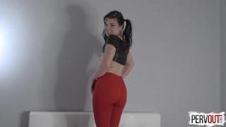 Juliette March Makes You a Girl nice ass pervout sissy yoga pants femdom pov kink pussy envy pigtails feminization brunette leotard fetish sweetfemdom fishnets
