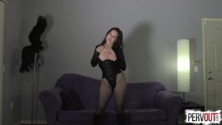 Juliette March Makes You a Girl  femdom pov pervout pigtails feminization fetish fishnets sissy kink brunette leotard sweetfemdom nice ass yoga pants pussy envy