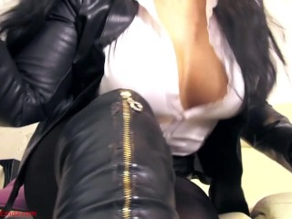 She Has An Anal Orgasm Worship Me All, From The Tips Of My Boots To The Smoke