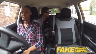 Fake Driving School busty black learner fails test with lesbian examiner  big natural tits big ass big fake tits big tits british ebony black milf lesbian fakedrivingschool mature shaved orgasm british milf pussy licking big boobs girl on girl fake tits