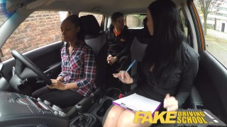 Fake Driving School busty black learner fails test with lesbian examiner ebony british milf big natural-tits big-ass milf mature black british shaved lesbian big-boobs big-tits fake-tits fakedrivingschool orgasm pussy-licking girl-on-girl big fake-tits