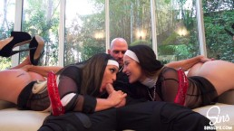 Nuns Dani Daniels and Kissa Si