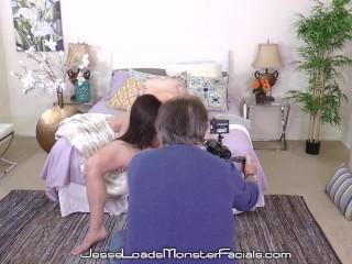 Young Bubble Butt Teen Kat Monroe Fucks Stepdad & Gets Cum Facial BTS