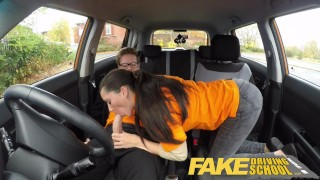 Fake Driving School little English teen gets fucked after her lesson  car sex doggy style teen funny blowjob pov young fakedrivingschool cowgirl 18 year old reality petite shaved teenager facial british teen
