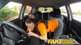 Fake Driving School little English teen gets fucked after her lesson  car sex teen funny doggy-style blowjob pov young fakedrivingschool cowgirl 18 year old reality petite shaved teenager facial british teen