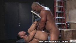 RagingStallion Bruno Bernal gets His Hole Stuffed with Big Cock