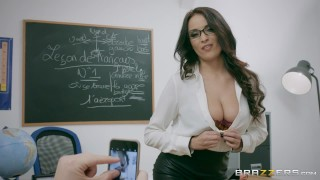 Naughty French teacher Anissa Kate loves anal Brazzers