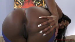 Kiss My Ebony Ass, Whiteboy - Camille Amore Femdom POV JOI