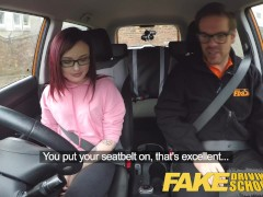Fake Driving School 19yr old petite American student creampie lesson