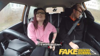 Fake Driving School 19yr old petite American student creampie lesson analized ass-fuck young fake-taxi glasses tattoo car small-tits tattooed-teen pov fakedrivingschool anal-creampie reality funny teenager