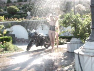 Backstage of the shooting with Emily Bloom & Milena (MilenaAngel.Club)