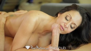 PUREMATURE Busty mature Ava Addams interrupts phone call for fuck  big tits hd french mom cumshot busty 69 milf hardcore puremature brunette mother hot mom female friendly ava addams titty fucking