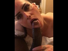 Pornstar and Webcam Model NikkieDickie gives raw oral in New York