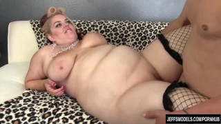 Fat fucked girl sexy good plumper stockings