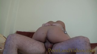 horny brunette girlfriend sucking dick and fucking anal