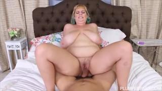 plumperpass chubby natural tits big boobs mom mother blonde huge tits plumper blowjob cock sucking riding cowgirl hardcore doggy style