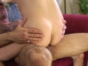 Twink knows how to get his way with his muscle stepdad