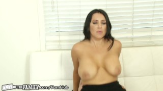 OutOfTheFamily Busty Mommy Squirts for Stepson  big tits high heels outofthefamily female orgasm squirt stepson blonde mom blowjob squirting step mother petite mother orgasm stepmom pussy licking pussy eating