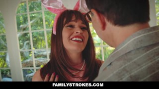 FamilyStrokes - Hot Teen Fucked By Easter Bunny Step Uncle Pov tits