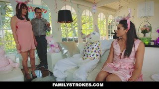 FamilyStrokes - Hot Teen Fucked By Easter Bunny Step Uncle Cum style