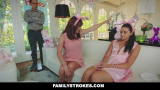 FamilyStrokes - Hot Teen Fucked By Easter Bunny Step Uncle Milf brunette