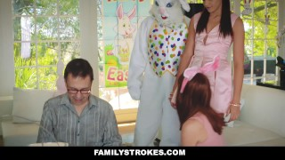 FamilyStrokes - Hot Teen Fucked By Easter Bunny Step Uncle Cumshot whore