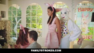 FamilyStrokes - Hot Teen Fucked By Easter Bunny Step Uncle Petite siblings