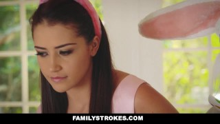 FamilyStrokes - Hot Teen Fucked By Easter Bunny Step Uncle Bone tits