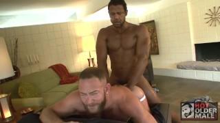 Muscle Stud Shay Michaels Takes Aron Ridge's Huge Black Cock