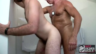 Dirty Boy Dominick August Takes Daddy Rex Silver's Cock In Public Bathroom Cute folded