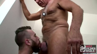 Bathroom daddy in cock takes dominick august public boy silver's dirty rex fucking bathroom
