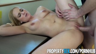 PropertySex - Hot blonde real estate agents lands new client  point of view real estate agent funny amateur blowjob blonde cumshot pov propertysex missionary hardcore reality shaved doggystyle natural boobs