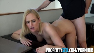 PropertySex - Hot blonde real estate agents lands new client  real estate agent point of view funny amateur blowjob blonde cumshot pov propertysex missionary hardcore reality shaved doggystyle natural boobs