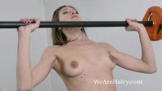 Lillian Vi masturbates and does naked exercising