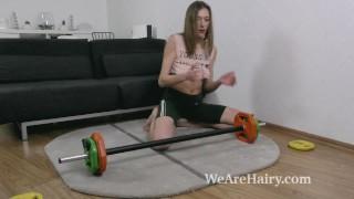 Lillian Vi masturbates and does naked exercising