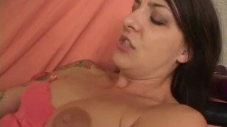 In lexi giant slut a her squeezes dildo brunette pussy adult huge