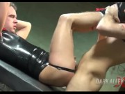 Rubber Skinhead fucked rough and raw by big dicked top