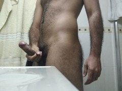 YOUNG CUBAN HAIRY QUICK CUM SOLO JERKOFF