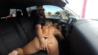 Fucking in Public Drive Threw Car Wash Big cock