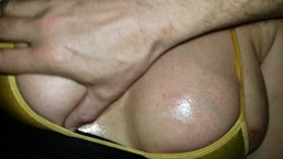 Large Tits being Rubbed with Oil