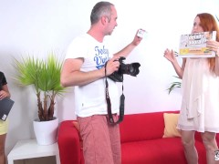 FakeShooting - Ugly tall redhead think she can be model & fuck fhotographer