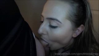 Epic Porn Battles of History - Scarlett Knightley vs. Little Oral Andie Blowjob point