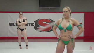Allwood VS Rossi vaginal penetration pussy eating analized domination lesbo face sitting big tits ultimatesurrender blonde fingering straight lesbian anal lezdom strap on ass fuck submission wrestling humiliation