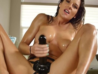 Big Black Shiny Cock Strapon Mandy Flores