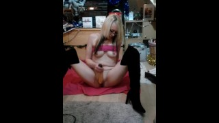 Big butt blonde Cougar Blowjob &doggystyle