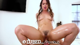 LUBED Soapy bubble cutie Taylor Sands fucked and creampied Doggystyle tits