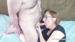 Redhead amateur housewife paid for sex on camera
