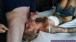 Preview 6 of Tattooed whore caught cheating; Blackmailed for a piece of ass!
